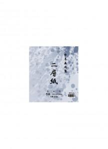 Бумага для суми-э рисовая двуслойная Nisōshi【二層紙】[формат сикиси, 242x273мм; 50 листов]