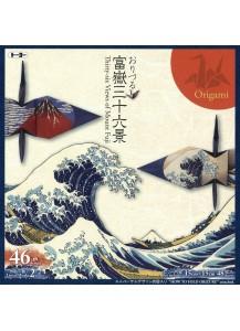 """Бумага для оригами """"Тридцать шесть изображений Фудзи"""" [150x150мм, 48 л.]"""