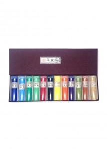 Минеральные краски для японской живописи от Ueba Esou [12 цветов]
