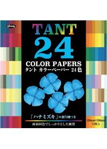 Бумага для оригами [Tant; 24 цвета; 72 л.; 150x150 mm]