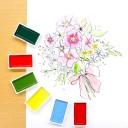 Набор акварельных красок Gansai Tambi от Kuretake [48 цветов]