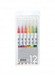 Набор Zig Clean Color Real Brush [12 цветов]
