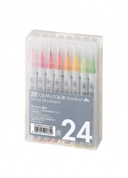 Набор Zig Clean Color Real Brush [24 цвета]