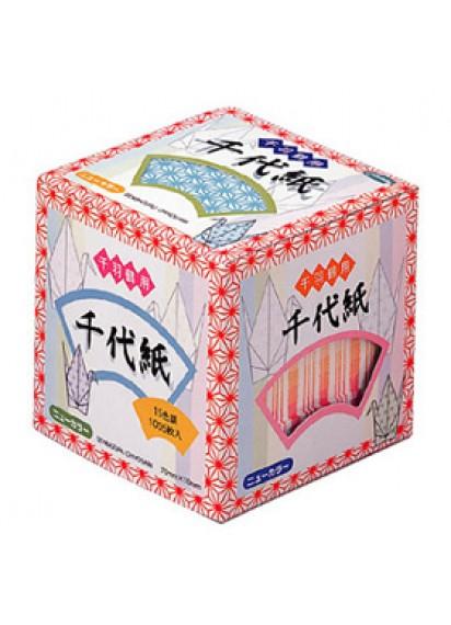 """Бумага для оригами """"1000 журавликов"""" [15 цветов; 1005 л.]"""