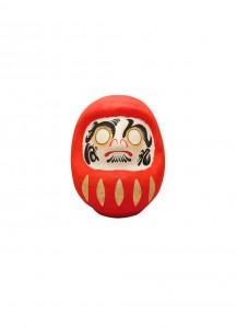 Японская кукла дарума каомодзи от Ryukodo –Сила духа– [красная; 65мм] / 6-952.E