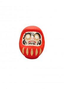Японская кукла дарума каомодзи от Ryukodo –Безопасность в доме– [красная; 65мм] / 6-952.H