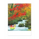 Японский настенный календарь на 2021 год от IC Calendar – Краски весны и осени / IC-297 [60×43см]