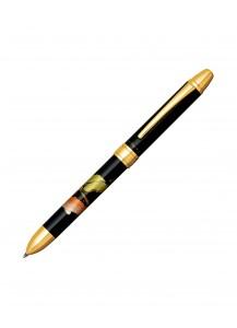 Ручка Double Action 3 в 1 с росписью макиэ от Platinum –Карп и сосна–
