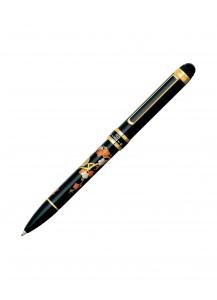 Ручка Double Action 3 в 1 с росписью макиэ от Platinum –Соловей на сливе–
