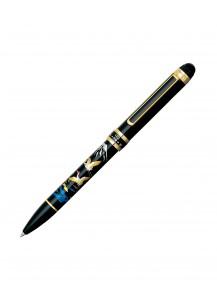Ручка Double Action 3 в 1 с росписью макиэ от Platinum –Журавли–
